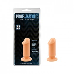 Анальная пробка-Prof. Jason C Small Slim Dildo Flesh