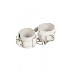 НАРУЧНИКИ LEATHER DOMINANT HAND CUFFS,WHITE