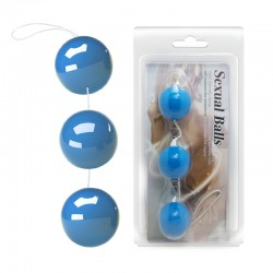 Вагинальные шарики - Sexual Triple love balls light Blue
