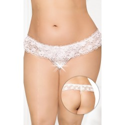 Женские стринги - G-string 2432 - Plus Size - white, XL-XXXL