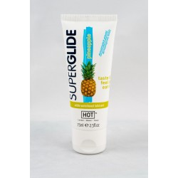 Лубрикант со вкусом ананаса HOT Superglide edible lubricant waterbased - PINEAPPLE - 75ml