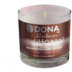 Свеча для массажа DONA KISSABLE MASSAGE CANDLE - CHOCOLATE