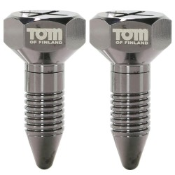 Tom of Finland Screw U II Magnetic Nipple Clamps - украшение для сосков