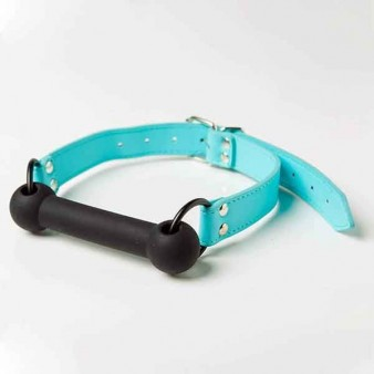 Кляп Silicone Luxury Fetish, Blue & Black