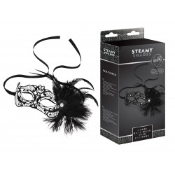 Маска - STEAMY SHADES Mardi Gras Mask with Feathers