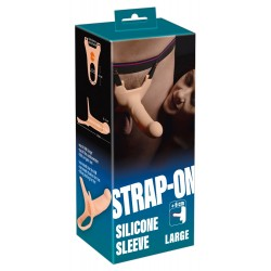 Страпон - Silicone Strap-on +6cm large strap-on