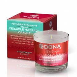 Массажная свеча DONA Kissable Massage Candle Strawberry Souffle (125 мл)