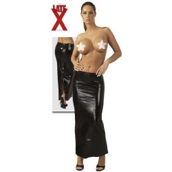 Юбка Latex Rock lang mit Zip