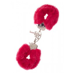 Наручники,Metal Handcuff with Plush red