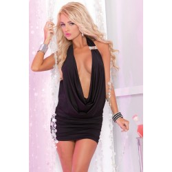 Платье Diamond drape mini dress black S/M