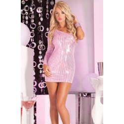 Платье Glitterati sequin dress pink S/M