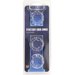Кольцо MENZSTUFF STRETCHY COCK RINGS CLEAR